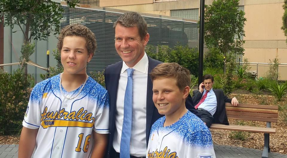 Little League players meet NSW Premier